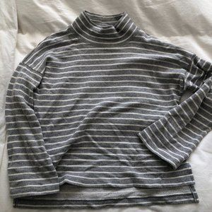 Madewell striped mock neck sweater